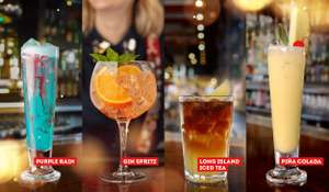 Free cocktail when you order a main meal @ TGI Fridays between 10th & 14th of Feb