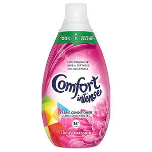 Comfort Intense Fabric Conditioner Liquid, Fuchsia Passion, 540 ml, Pack of 6 - £11.37 (Prime or + £4.49 NP) (£8.53 for 1st S&S) @ Amaozn