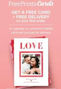 Free postcard & Free delivery for new customer at Free Prints Cards app required