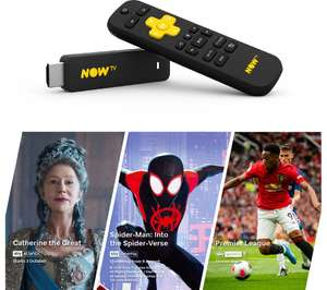 NOW TV Smart Stick with 1 Month Cinema, 1 Month Entertainment & Sports Day Pass £19.99 at Currys PC World
