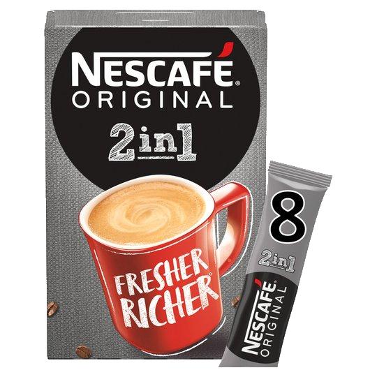 Nescafe Original 2 in 1 8 Pack 80G £1 @ Tesco