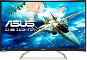 ASUS VA326HR Curved 32 Inch (31.5 Inch) FHD (1920 x 1080) Gaming Monitor £226.15 @ Amazon