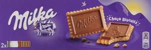 Milka chocolate biscuits 4 packets for £1.28 / 32p a pack, free delivery with Amazon Prime (+£4.49 non-Prime)