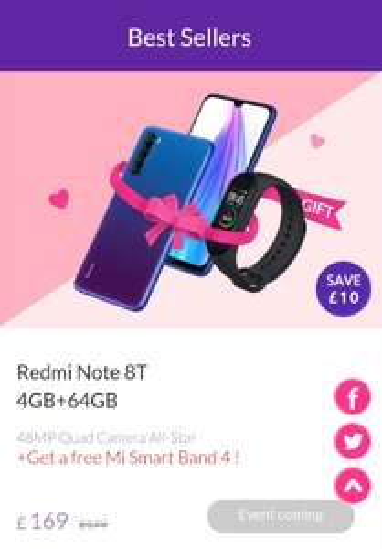 Xiaomi Mi Note 8t +Mi Smart Band 4 for £169 at Xiaomi UK
