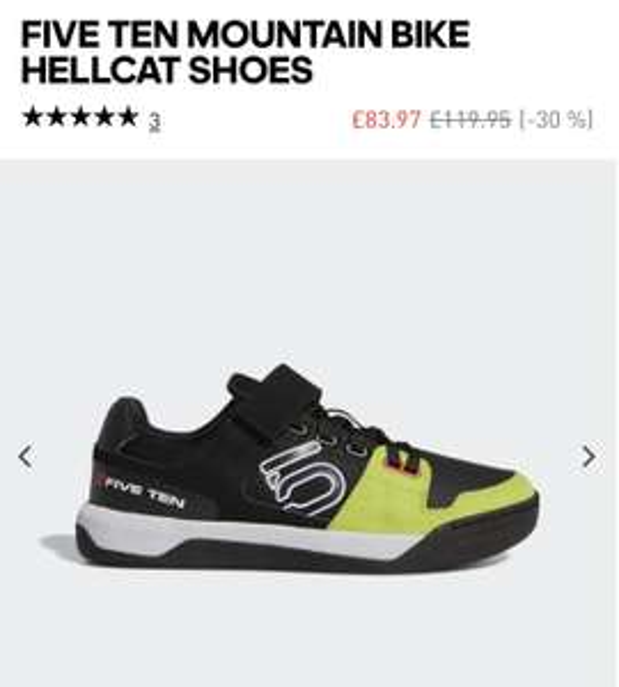 Five ten hellcat SPD mountain bike MTB Shoe £63.98 @ adidas