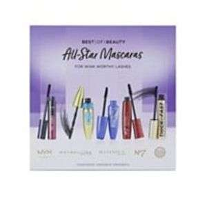 All-Star Mascaras 5 full size mascara from No7, Maybelline, NYX, Rimmel & Soap & Glory £15.75 Free Click & Collect at boots