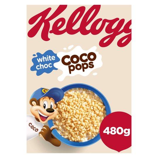 Kelloggs White Choc Coco Pops 480g £1 @ Farmfoods