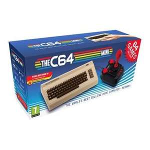 Commodore 64 Mini Retro PC Legacy Games Console CBM64 With Joystick + 64 Games Pre Installed £29.99 Collected + £4.79 click & collect @ Scan