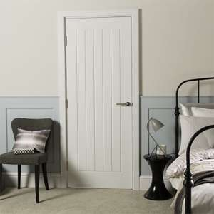 Cottage Moulded Primed Woodgrain Internal Door £24 or two for £40.80 (£20.40 each) @ Homebase (free click and collect)