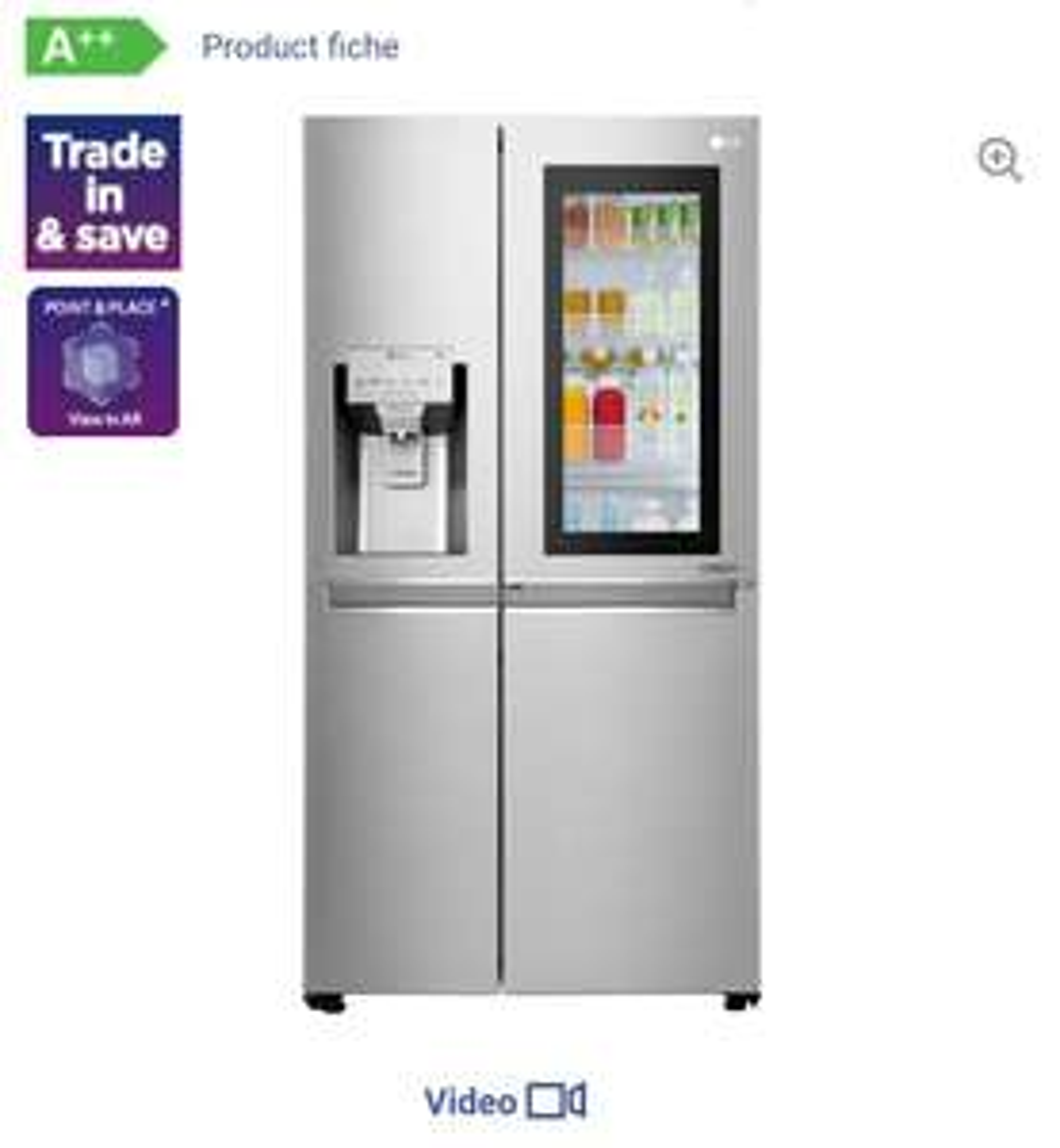 LGGSX961NSVZ American-Style Smart Fridge Freezer - Steel - £1399 @ Currys PC World