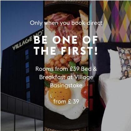 Selected Village Hotels £39 Bed and Breakfast - Basingstoke / Bristol / Portsmouth