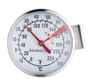KITCHEN CRAFT Milk Frothing Thermometer - Stainless Steel for cappuccinos 97p click n collect at Currys
