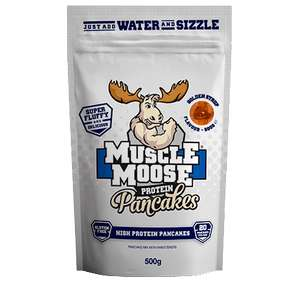 Muscle moose protein pancakes, golden syrup 500g - £4 at B&M