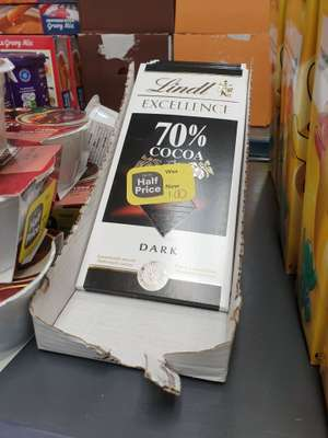 Lindt Excellence Dark 70% Cocoa Chocolate Bar 100g £1 @ Iceland Salford