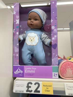 Cuddle time Emmi dolls reduced from £8 to £2 in store Tesco