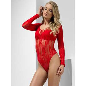 Red Lace Long Sleeve Body Lingerie size 6-14 now £7.99 @ Bondara p&p £3.75 or Free with £35 spend