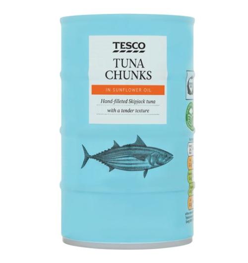 Tesco Tuna Chunks 4 x 145g £2.83 at Tesco in Burnage