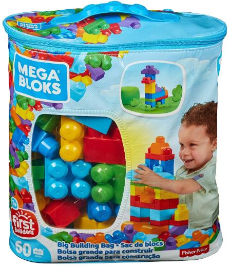 Mega Bloks Construx 900 DCH55 Big Building Bag, Blue, 60 Pieces £7.50 (prime) // £11.99 (non prime) @ Amazon