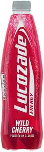 1 litre Lucozade wild cherry and various other flavours 50p each @ Farmfoods