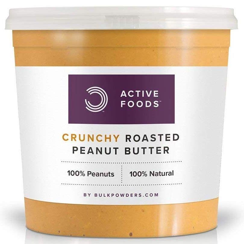 BULK POWDERS Natural Roasted Peanut Butter Tub, Crunchy, 1 kg £3.99 (+£4.49 Non Prime) @ Amazon