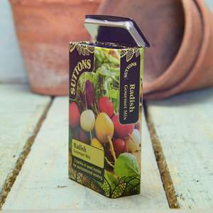 Sutton's seed tins 5 for £10 - 5 for £5 with code