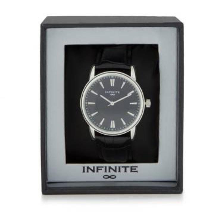 Infinite - Men's black analogue watch Now £7.50 delivered @ Debenhams