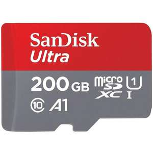 SanDisk 200GB Ultra Micro SD Card (SDXC) UHS-I A1 + Adapter - 100MB/s for £21.95 Delivered @ Mymemory