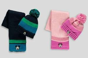 Kids Mickey Mouse Hat and Scarf Set (3-6yrs)/Pink Minnie Mouse Hat and Scarf Set (3-6yrs) £3.50 @ Matalan (Free Click and Collect)