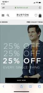25% off Every Single Thing @ Burton