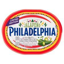 PHILADELPHIA CHEESE ALL FLAVOURS inc LIMITED EDITION with JALAPENO £1 @ Tesco