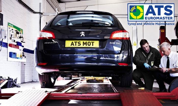 Groupon discount MOT ATS Euromaster £17.99
