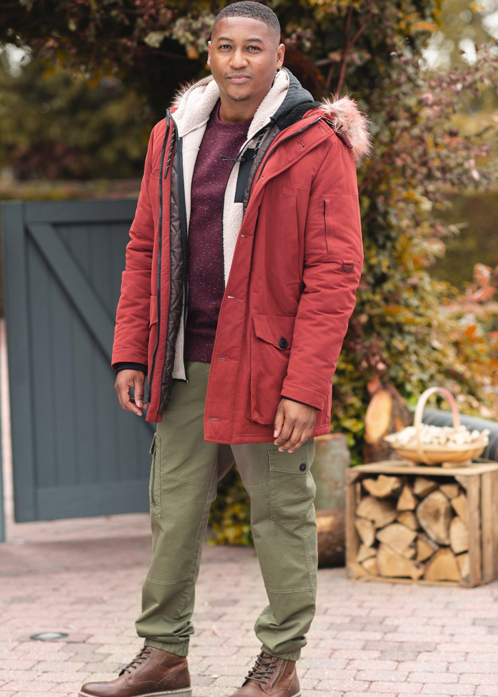 Red Hooded Parka Coat £15 Click & Collect @ Matalan