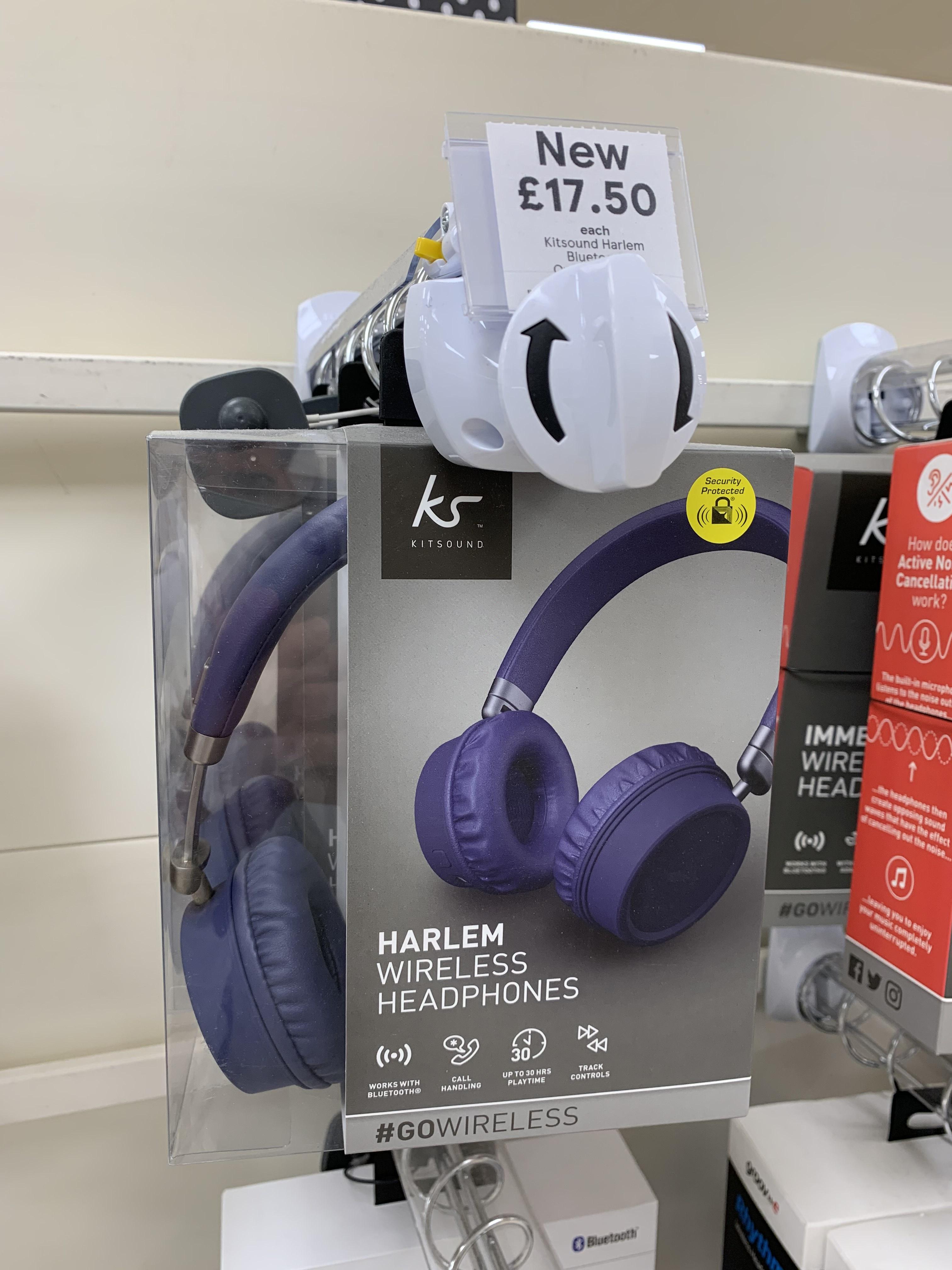 Kitsound Harlem Bluetooth Overhead Blue £17.50 instore @ Tesco Barry