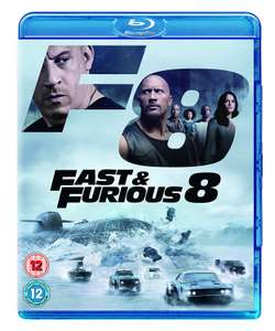 Fast and Furious 8 [Blu-ray] [Region Free] for £3.61 Prime/+£2.99 Non Prime @ Amazon UK