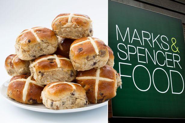 4x Gluten Free Hot Cross Buns - 2 packs of 4 for £2.50 @ Marks & Spencer
