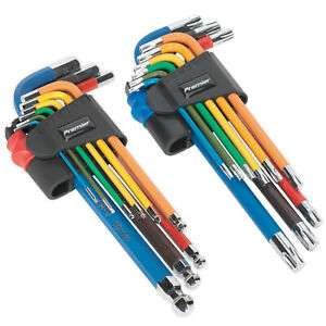 Sealey Twin Pack Long Ball-End Allen Hex Key & Torx Trx Star Multi-coloured Set - £18.99 delivered @ Ace Parts / eBay