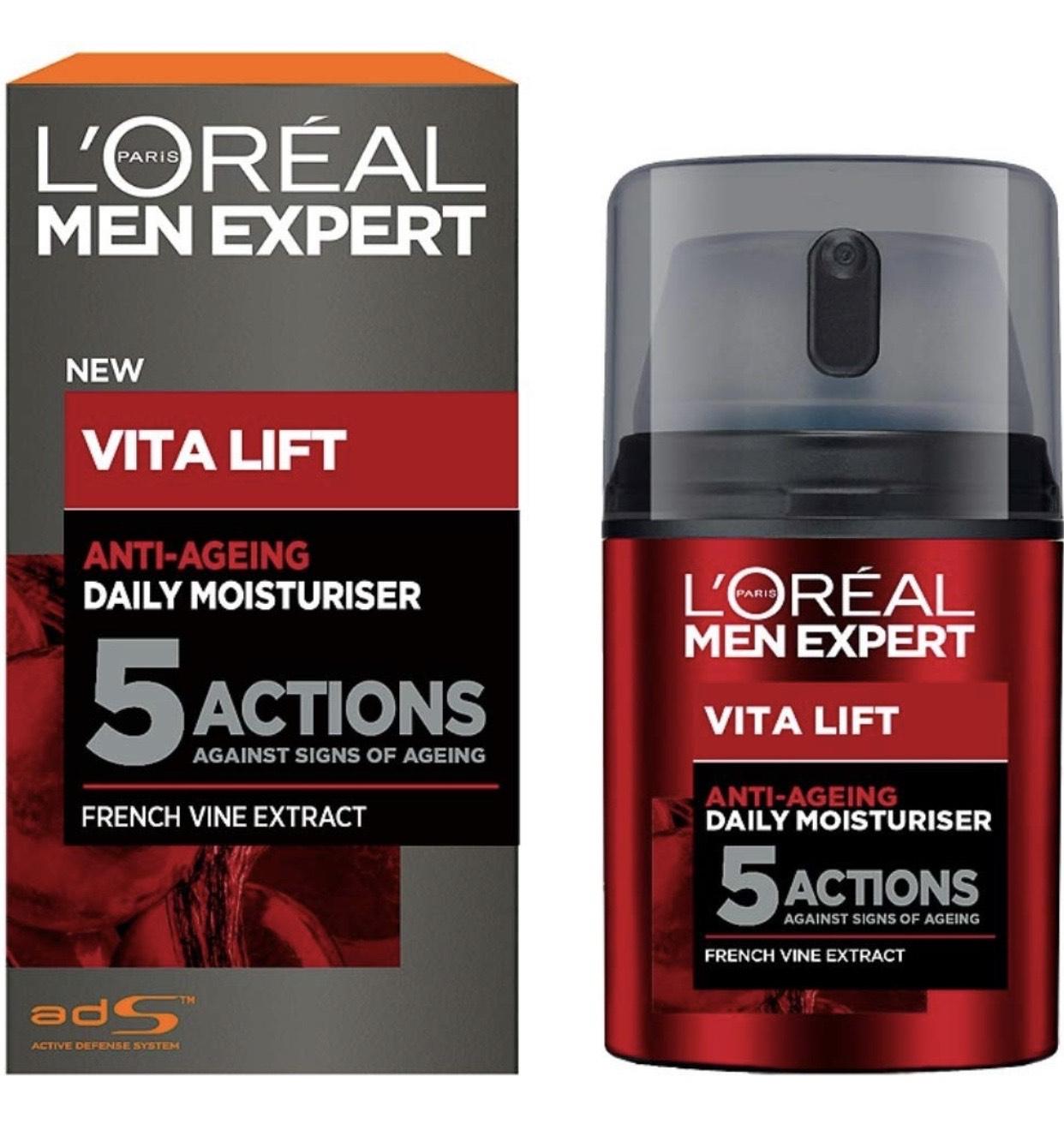 L'Oréal Paris Men Expert Vita Lift 5 Anti Ageing Moisturiser 50 ml - £7.56 / £5.67 with Subscribe & Save Prime / +£4.49 non Prime @ Amazon