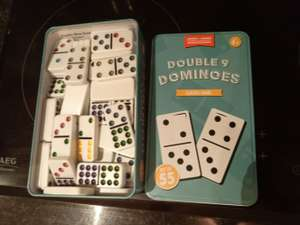 Good Quality Double 9 Dominoes in metal tin £3.99 @ Home Bargains