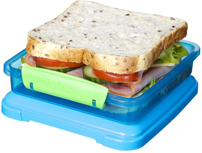 Sistema Lunch Sandwich Box, 450 ml - Assorted Colours £1.86 Prime / +£4.49 non Prime at Amazon