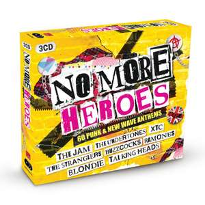 No More Heroes: 60 Punk & New Wave Anthems Box Set (3 x CD Boxset) with FREE MP3 download £6.99 + 99p Non Prime @ Amazon
