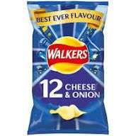 Walkers Cheese and Onion 12 pack at Tesco for £2