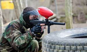 Conflict Paintball - Full day of Paintball plus Domino Pizza for 2 £5 @ Groupon (+16% TCB)