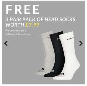 Free 3 pair pack of sock worth £7.99 with orders over £10 plus extra 10% off sale prices @ Trainerexpress 3.99 p&p New Balance / Adidas