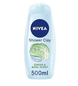 Nivea Clay Fresh Deep Cleansing Shower Gel, Ginger and Basil, Shower Cream, 500 ml, Pack of 6 £7.75 (+£4.49 Non Prime) @ Amazon