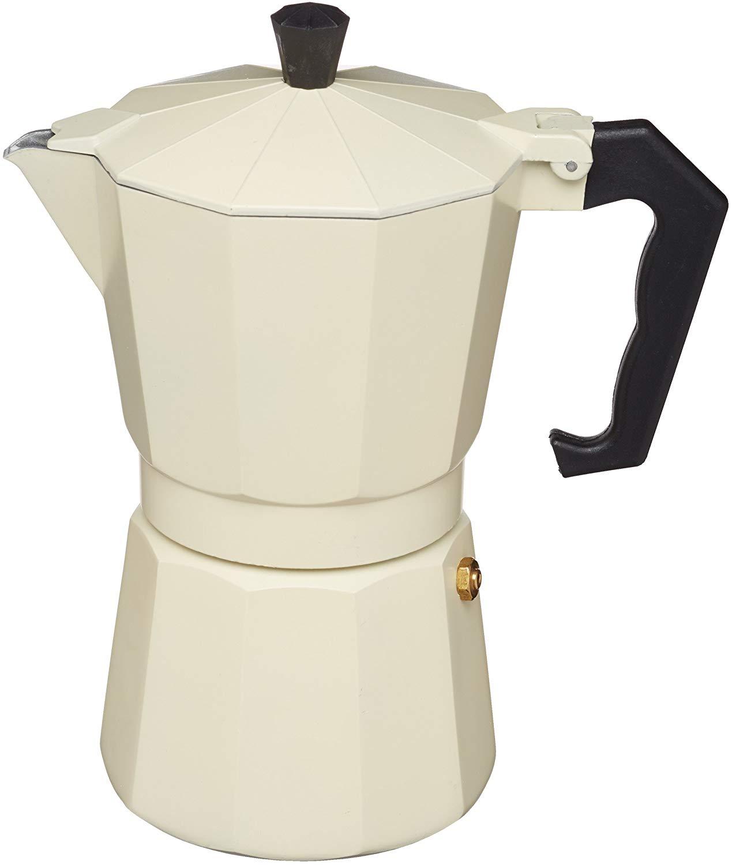 KitchenCraft Le'Xpress Italian Style 290ml cream Espresso Coffee Maker, Aluminium for £4.97 (Prime) / £9.46 (Non Prime) delivered @ Amazon