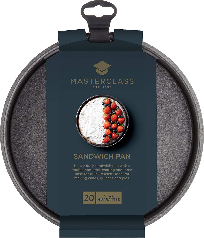 """MasterClass Non-Stick Round Sandwich Tin with Loose Base, 20 cm (8"""") - £2.97 (Prime) / £7.46 (Non Prime) delivered @ Amazon"""