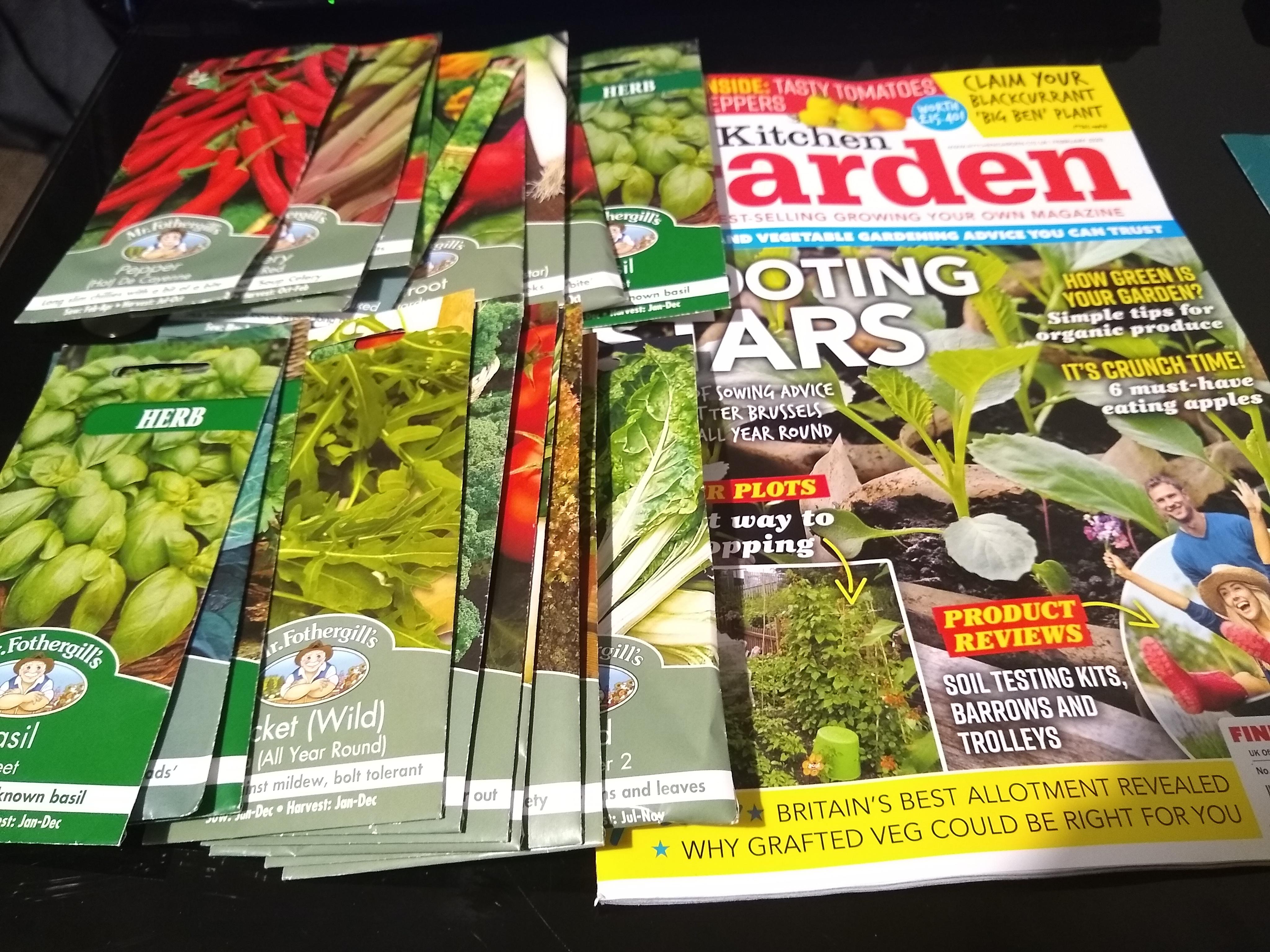 3 issues Kitchen Garden magazine plus 20 packs free seeds - £5.00 @ Classic Magazines