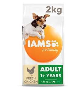 Iams dog biscuits 2 x 2kg £8 various Tesco online / instore