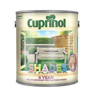 Cuprinol Garden Shades Wood Paint Matt Country Cream 2.5Ltr 9.99 @ Screwfix