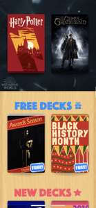 (iOS) Heads Up Game - Free in app decks are oscars & black history month @ App Store